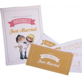 kit de recuerdos de recién casados
