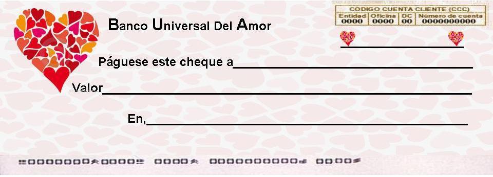 Cheques de amor gratis