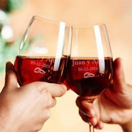 Copas de vino con tu nombre