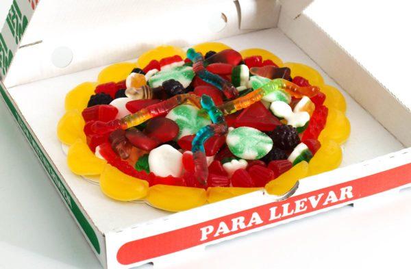 Pizza de chuches a domicilio